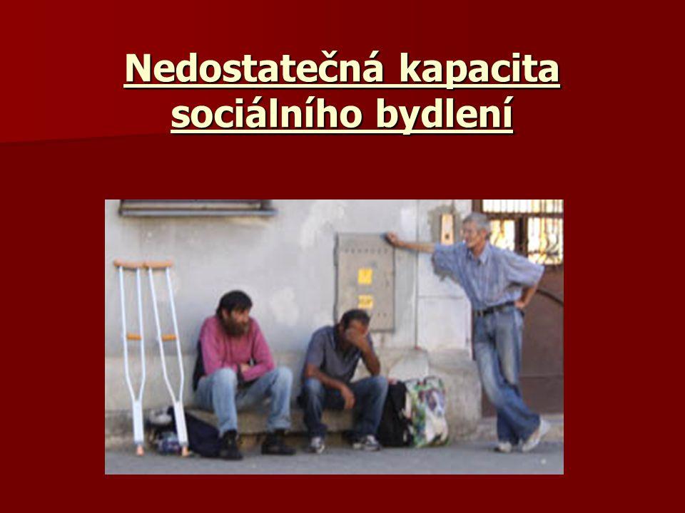 Nedostatečná kapacita sociálního bydlení