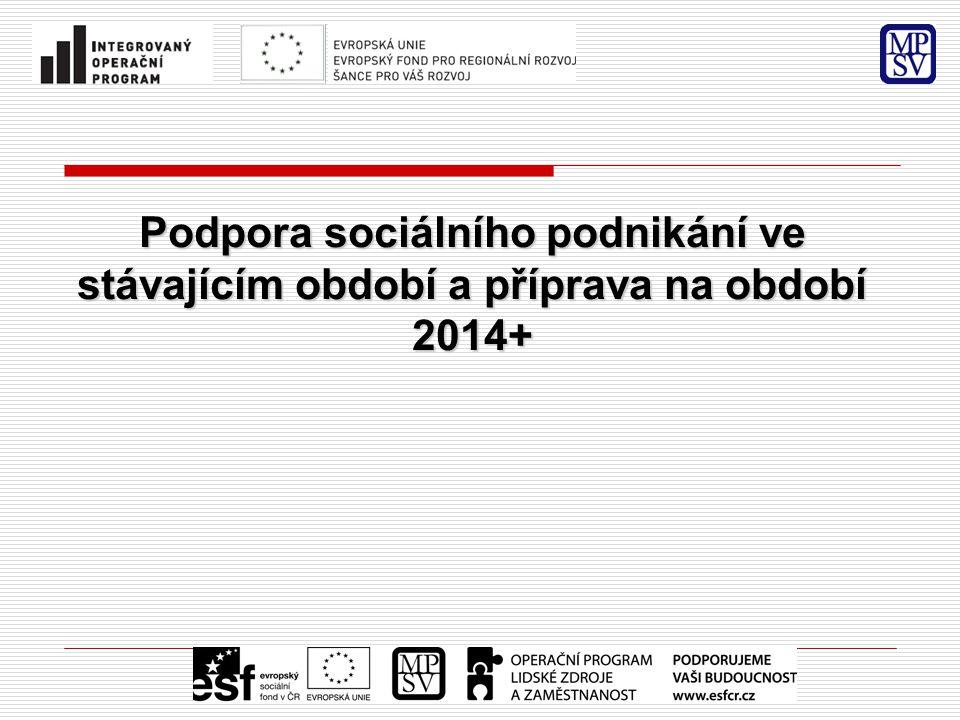 Podpora sociálního podnikání ve stávajícím období a příprava na období 2014+