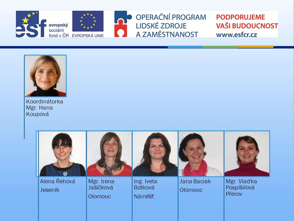  Projektový tým  28 lektorů, zapojených do realizace kurzů: Mgr.