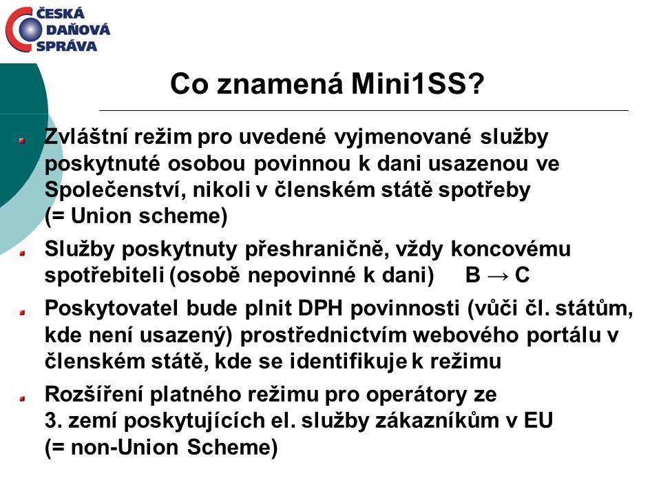Zvláštní režim pro uvedené vyjmenované služby poskytnuté osobou povinnou k dani usazenou ve Společenství, nikoli v členském státě spotřeby (= Union sc