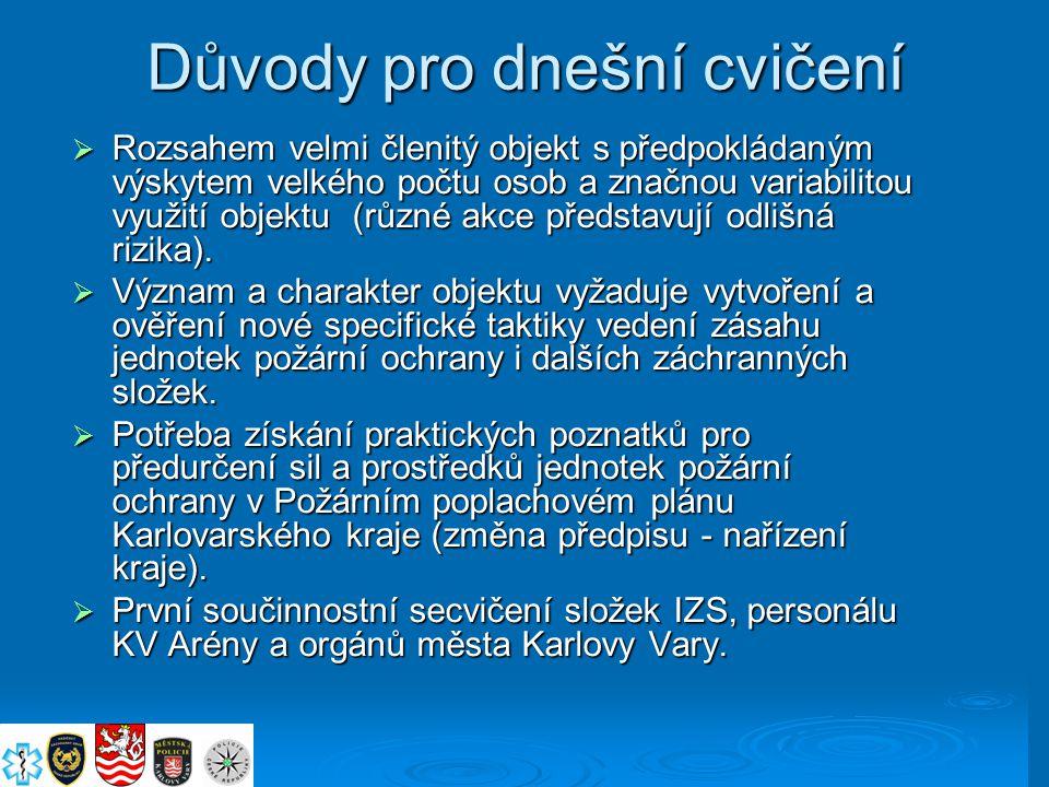 Cíle cvičení Prověřit: Svolání a zapojení krizového štábu města Karlovy Vary v čele s primátorem města.