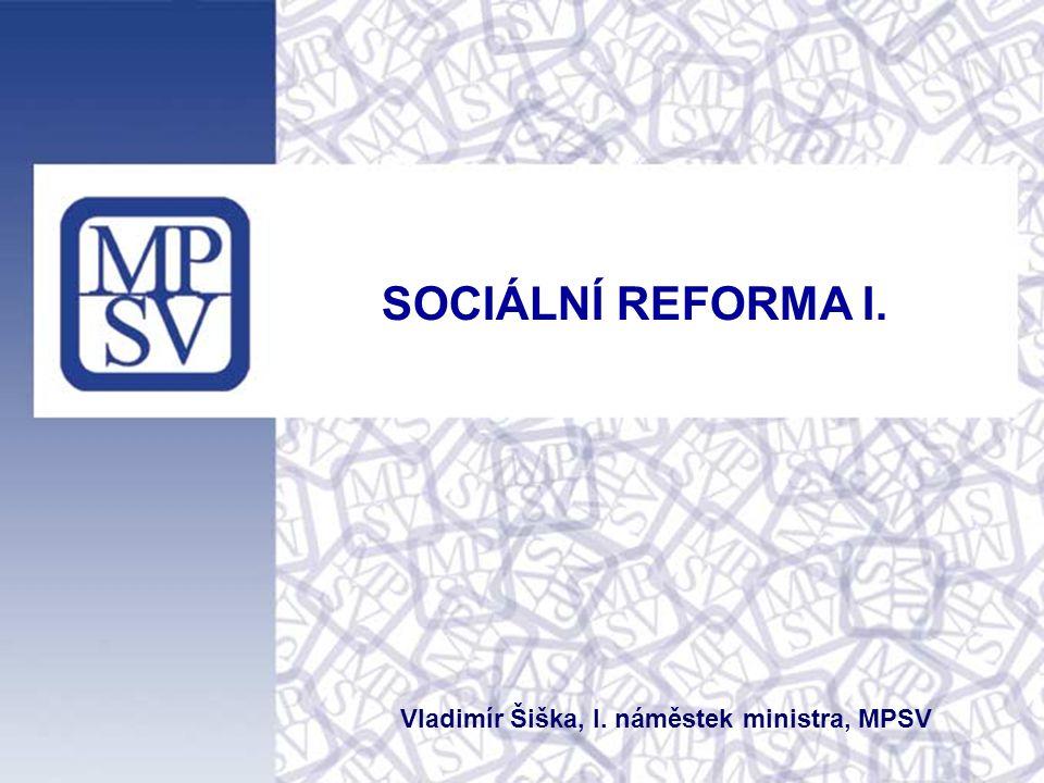 SOCIÁLNÍ REFORMA I. Vladimír Šiška, I. náměstek ministra, MPSV