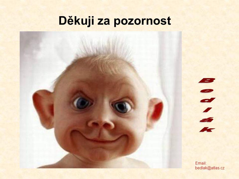 Děkuji za pozornost Email: bedlak@atlas.cz
