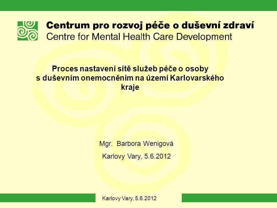 Proces nastavení sítě služeb péče o osoby s duševním onemocněním na území Karlovarského kraje Mgr.