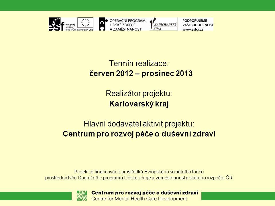 Centrum pro rozvoj péče o duševní zdraví Centrum pro rozvoj péče o duševní zdraví (CRPDZ) je NNO, která od roku 1995 přispívá ke zlepšení stavu péče o osoby s duševním onemocněním v oblastech:  Koncepční práce  Pilotní projekty – vytváření modelů péče  Vzdělávací a výzkumné projekty  Právo a podpora uživatelských hnutí  Destigmatizace (boj s předsudky)