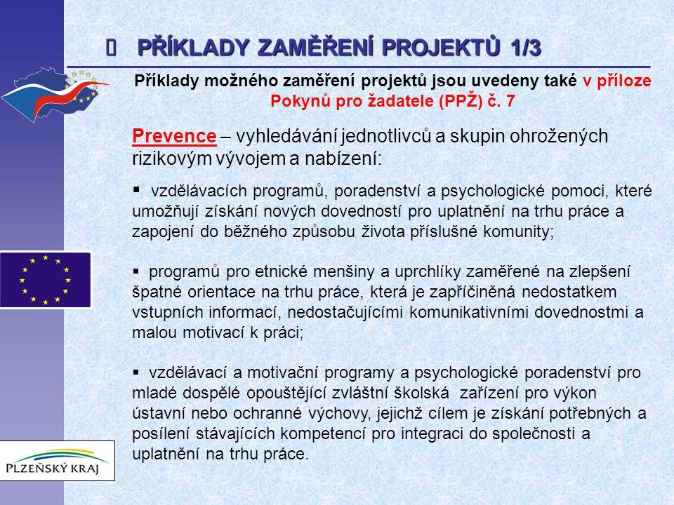 POSTUP ADMINISTRACE ŽÁDOSTI Kontrola formálních náležitostí (dle kritérií - viz PPŽ str.