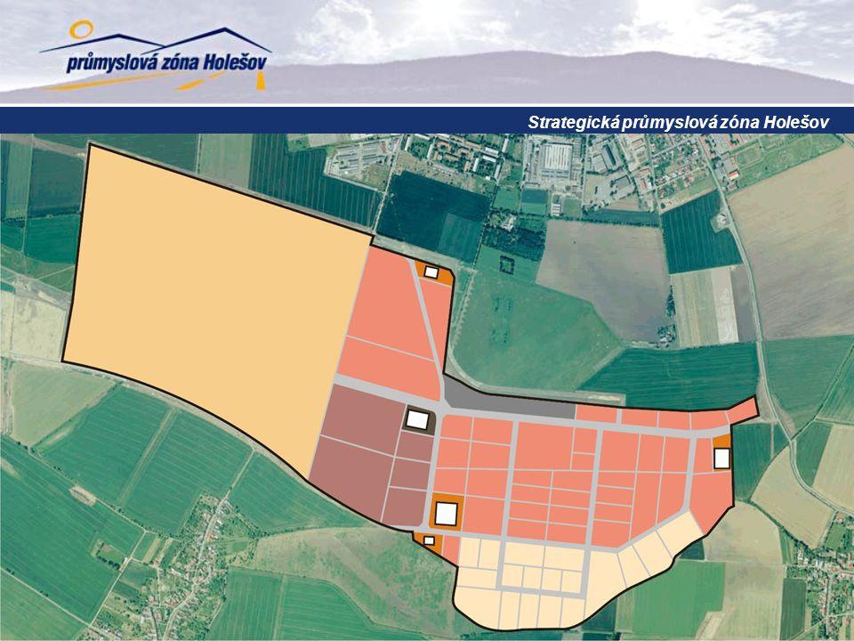 obsazování zóny investory harmonogram přípravy Strategická průmyslová zóna Holešov schválen vznik zóny 2003 zařazení zóny mezi strategické 2005 zahájení přípravných prací 2007 dokončení vnější infrastruktury 2009 2015 příchod investorů 2010 zahájení II.