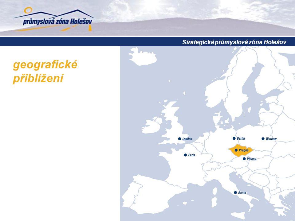 Strategická průmyslová zóna Holešov geografické přiblížení