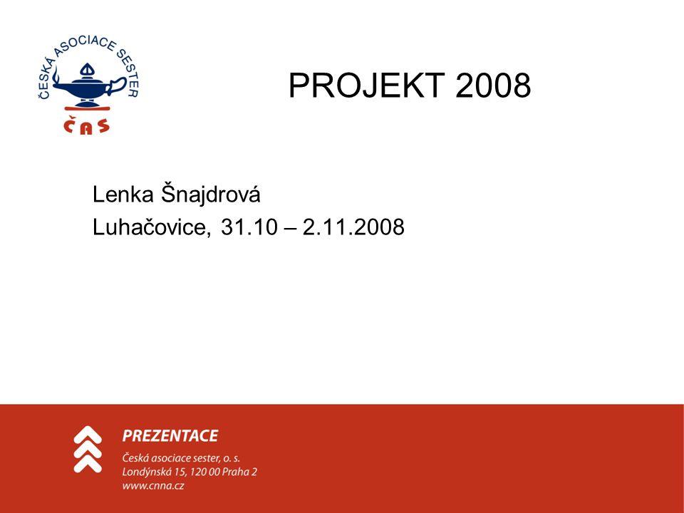 PROJEKT 2008 Lenka Šnajdrová Luhačovice, 31.10 – 2.11.2008