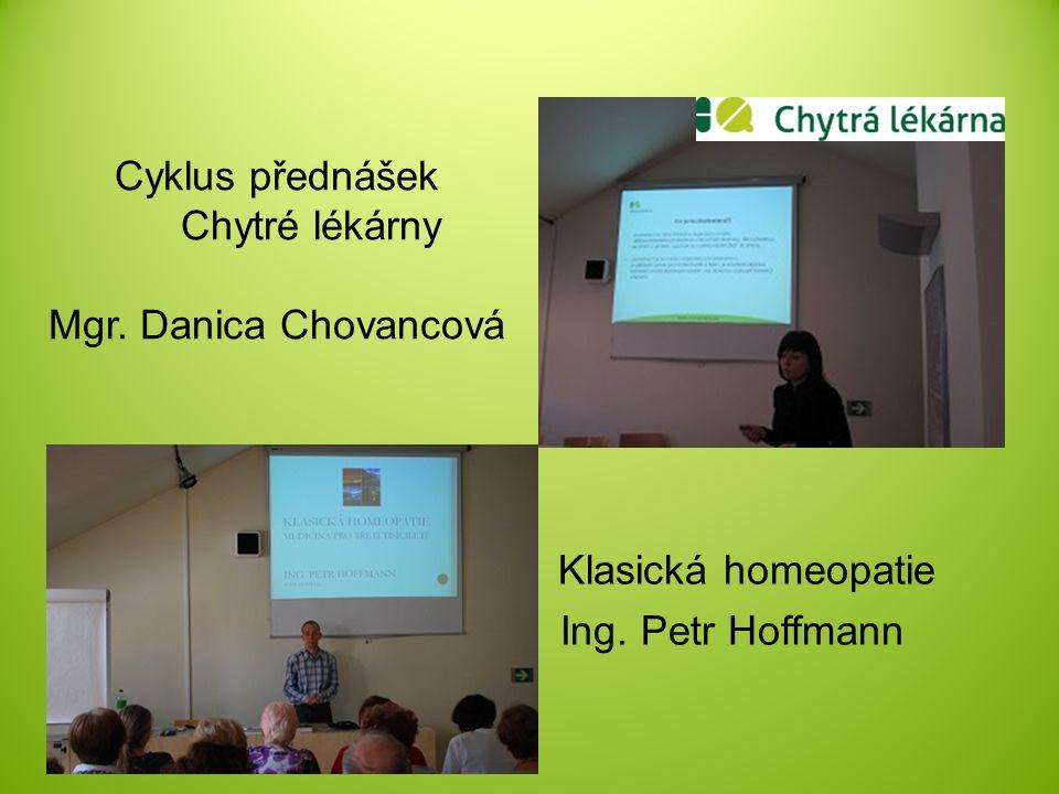 Cyklus přednášek Chytré lékárny Mgr. Danica Chovancová Klasická homeopatie Ing. Petr Hoffmann