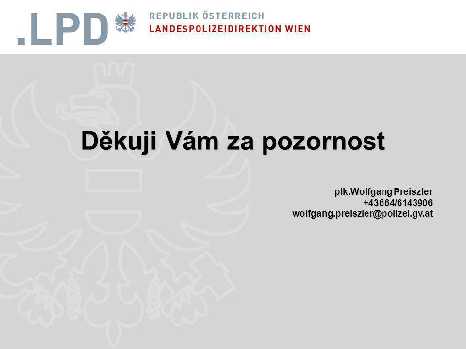 Děkuji Vám za pozornost plk.Wolfgang Preiszler +43664/6143906wolfgang.preiszler@polizei.gv.at