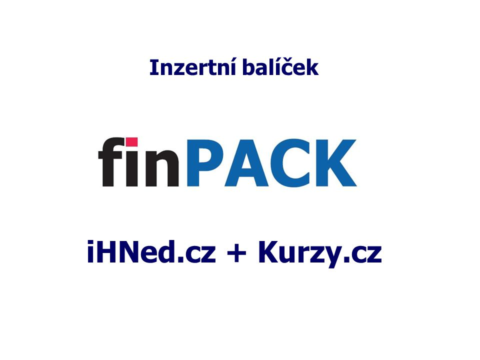 Inzertní balíček iHNed.cz + Kurzy.cz