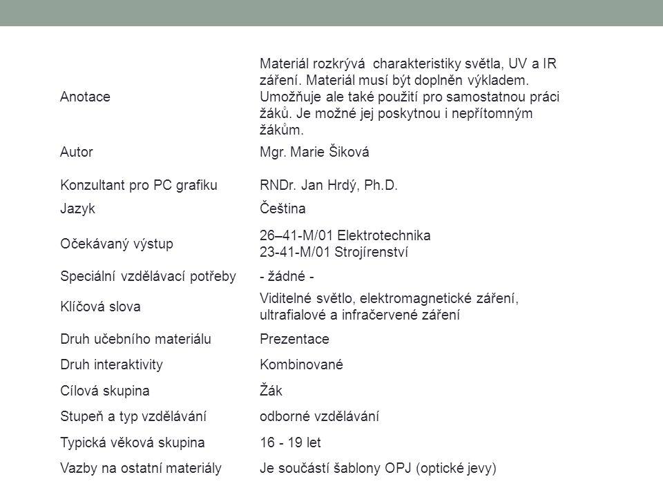 Elektromagnetické spektrum Osnova 1.Úvod 2. Elekromagnetické spektrum 3.