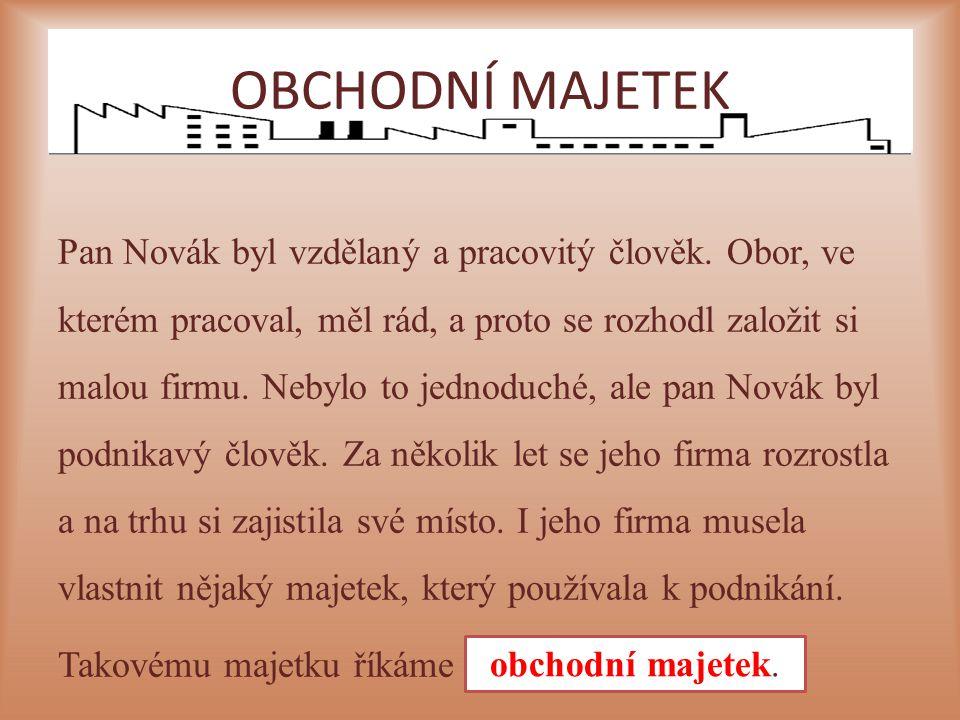 Pan Novák byl vzdělaný a pracovitý člověk. Obor, ve kterém pracoval, měl rád, a proto se rozhodl založit si malou firmu. Nebylo to jednoduché, ale pan
