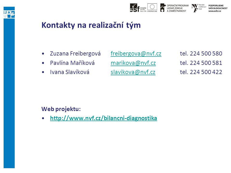 Kontakty na realizační tým Zuzana Freibergová freibergova@nvf.cztel. 224 500 580freibergova@nvf.cz Pavlína Maříkovámarikova@nvf.cztel. 224 500 581mari