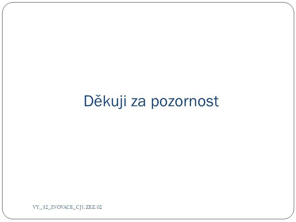 Děkuji za pozornost VY_32_INOVACE_CJ1.ZEZ.02
