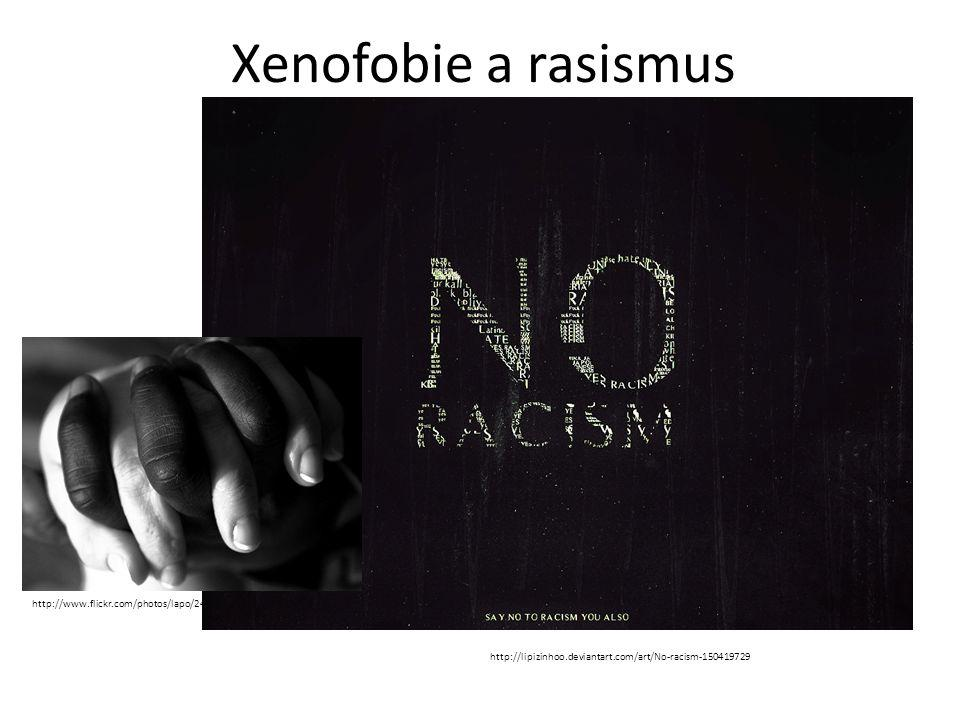 Xenofobie a rasismus http://www.flickr.com/photos/lapo/2451672081/ http://lipizinhoo.deviantart.com/art/No-racism-150419729