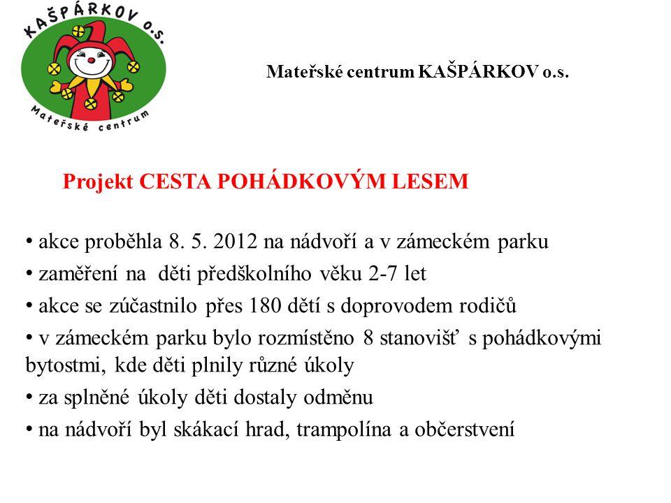 Projekt CESTA POHÁDKOVÝM LESEM akce proběhla 8.5.