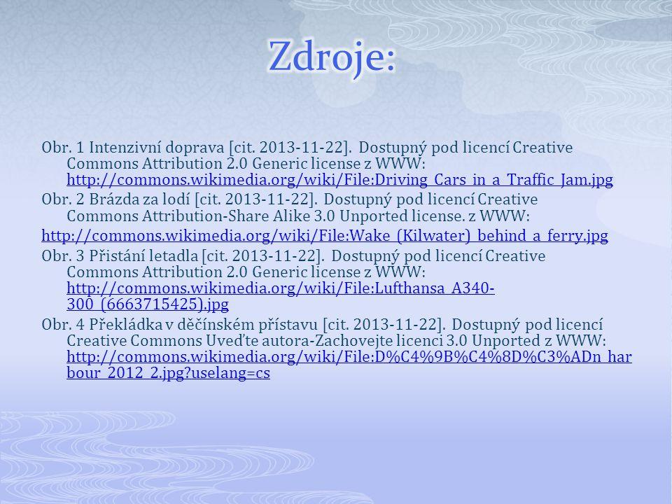Obr. 1 Intenzivní doprava [cit. 2013-11-22]. Dostupný pod licencí Creative Commons Attribution 2.0 Generic license z WWW: http://commons.wikimedia.org