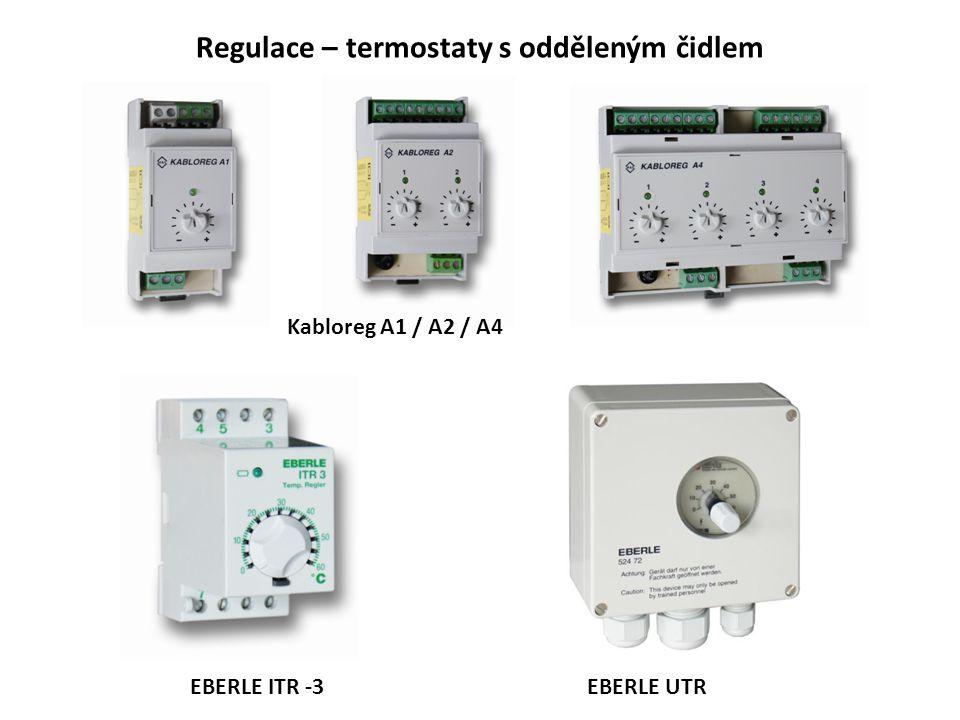 Regulace – termostaty s odděleným čidlem Kabloreg A1 / A2 / A4 EBERLE ITR -3EBERLE UTR