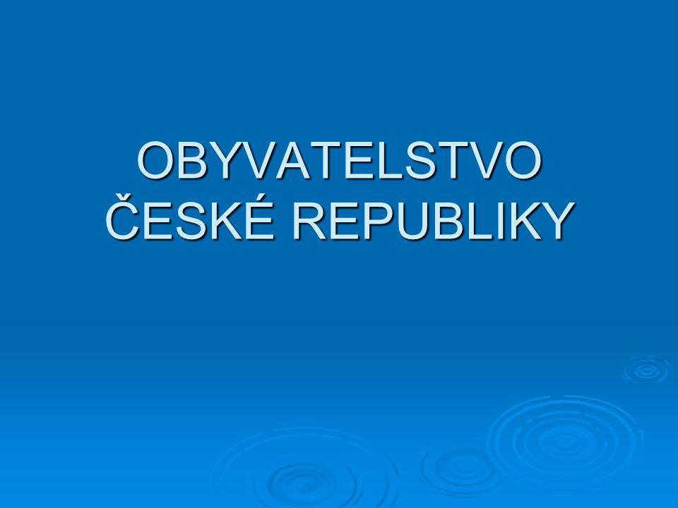 Hustota zalidnění Hustota zalidnění ČR : 130 obyv./km2