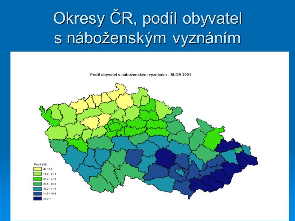 Složení obyvatelstva podle náboženského vyznání, r. 2001