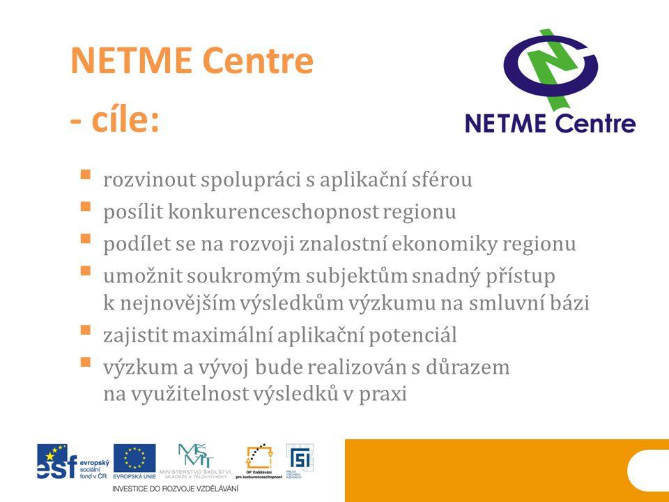  rozvinout spolupráci s aplikační sférou  posílit konkurenceschopnost regionu  podílet se na rozvoji znalostní ekonomiky regionu  umožnit soukromý