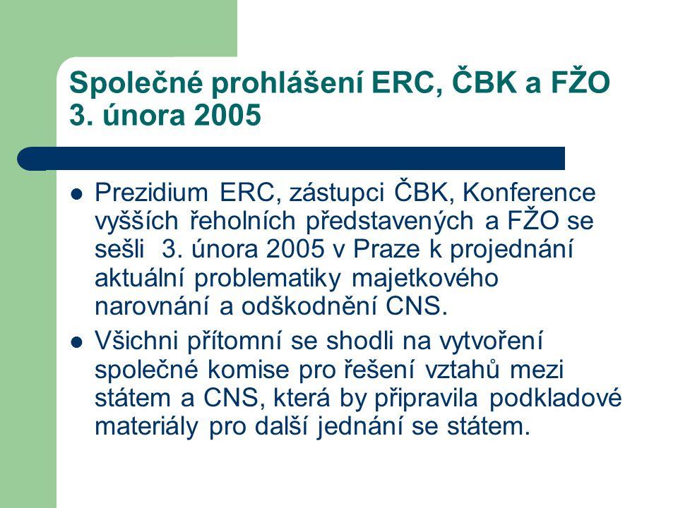 Společné prohlášení ERC, ČBK a FŽO 3.