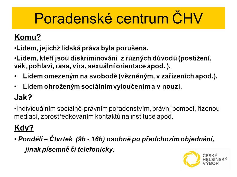 Příprava a prosazení zákona na odškodnění protiprávně sterilizovaných osob ČHV připravil a počátkem roku 2014 zaslal vybraným resortům návrh zákona na odškodnění protiprávně sterilizovaných osob.