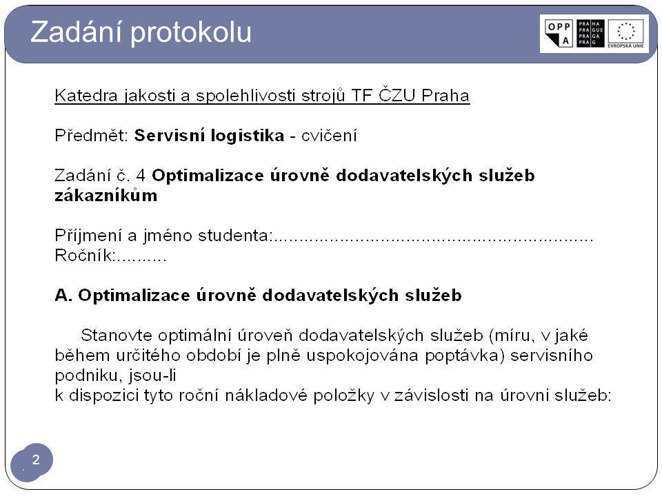 2 Zadání protokolu 2