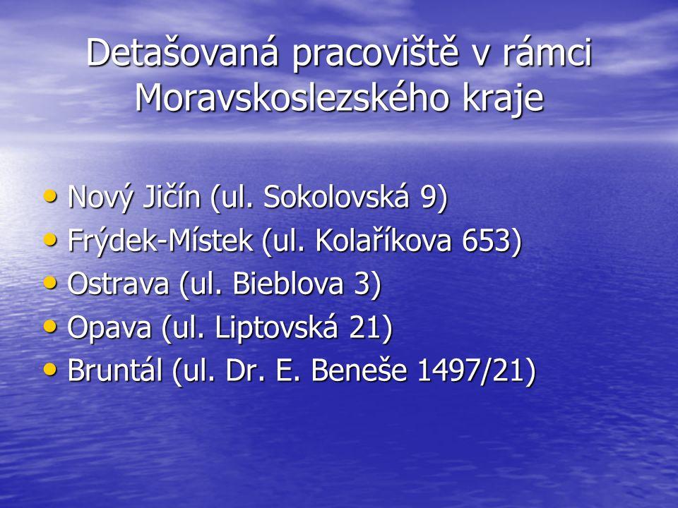 Detašovaná pracoviště v rámci Moravskoslezského kraje Nový Jičín (ul.