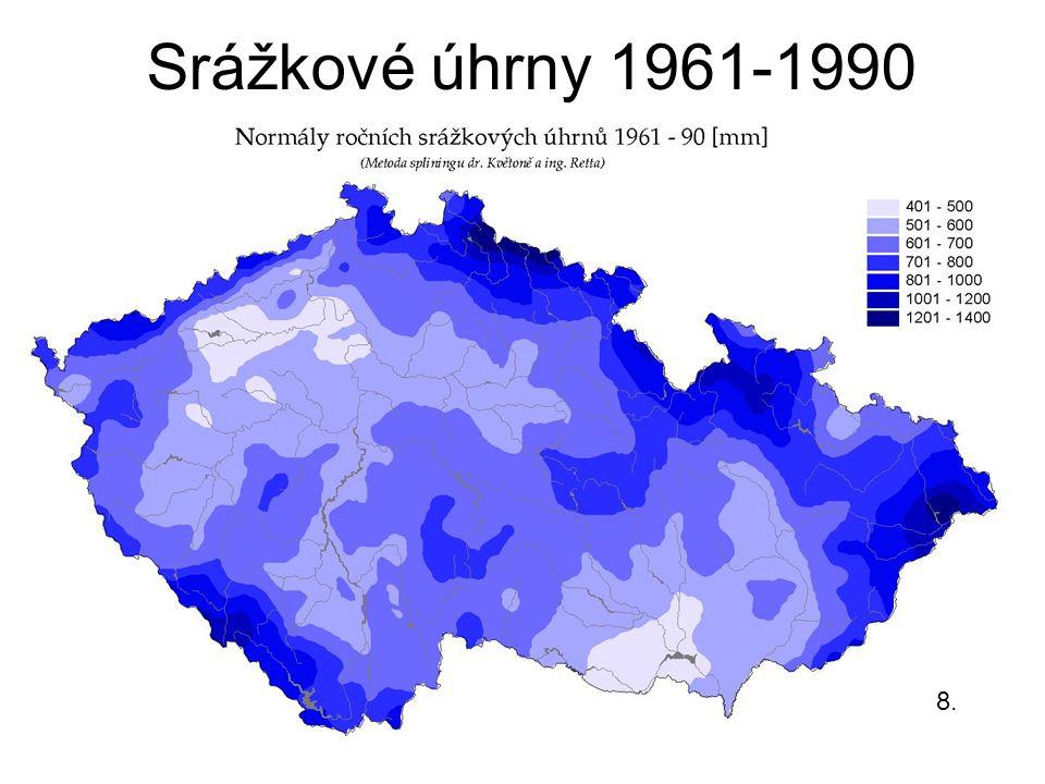 Srážkové úhrny 1961-1990 8.