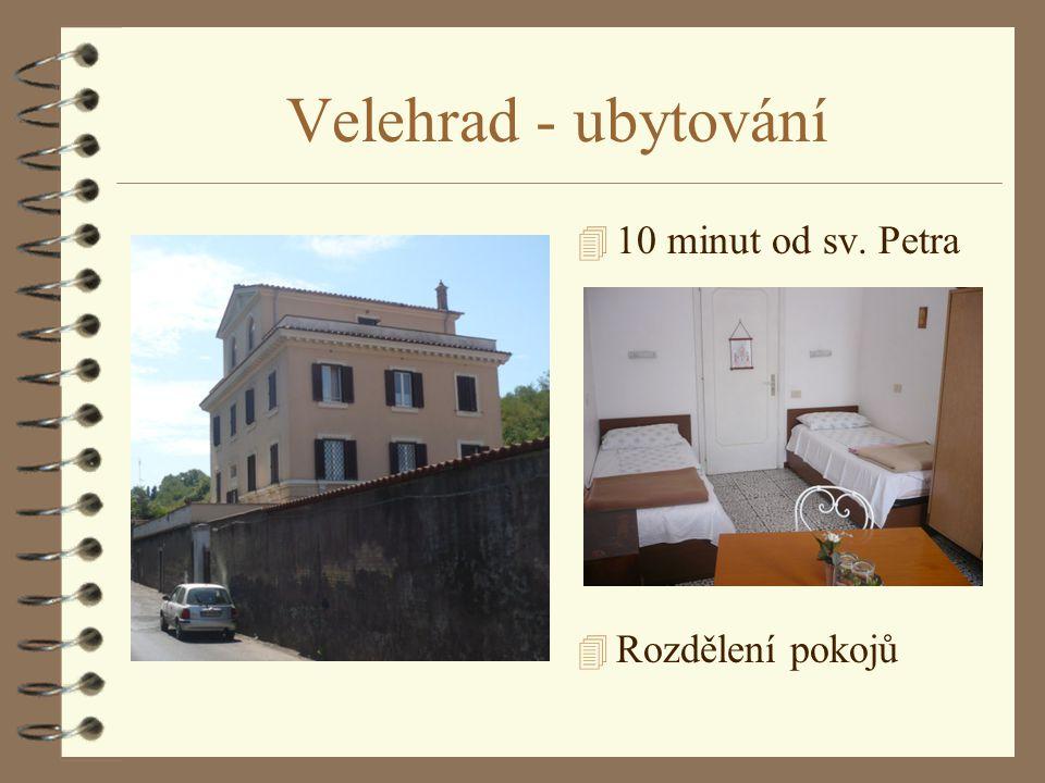 Velehrad - ubytování 4 10 minut od sv. Petra 4 Rozdělení pokojů