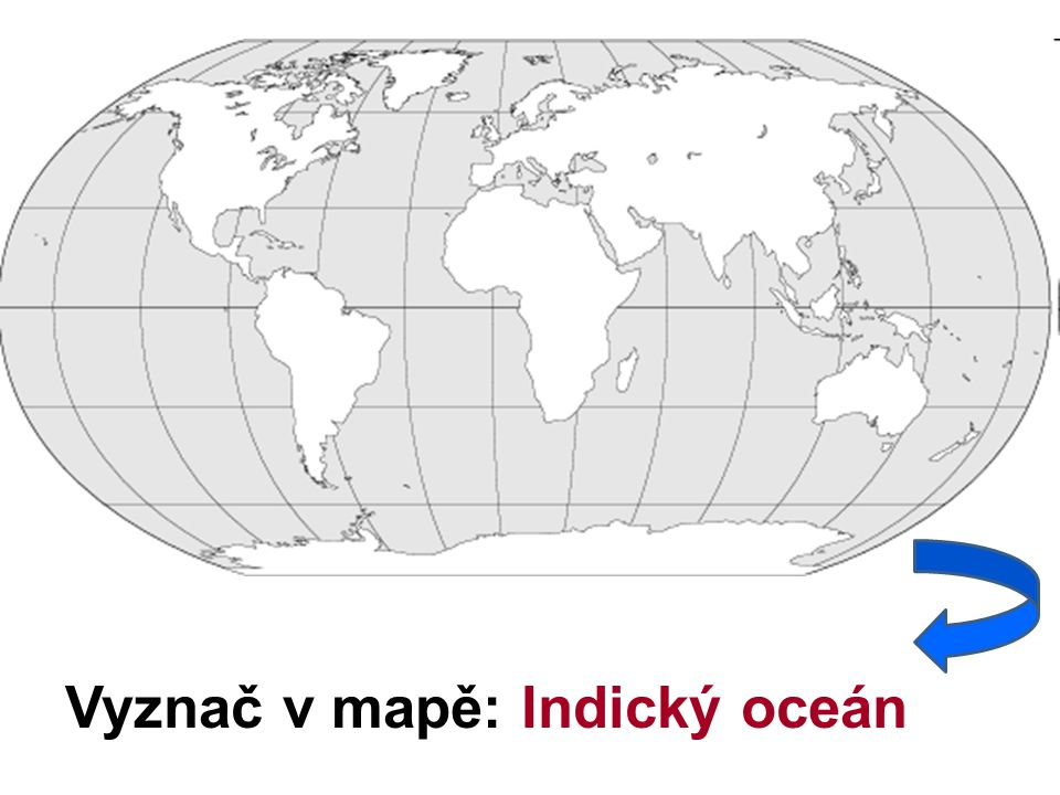 Vyznač v mapě: Indický oceán
