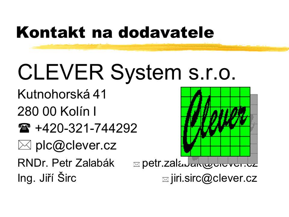 Kontakt na dodavatele CLEVER System s.r.o.