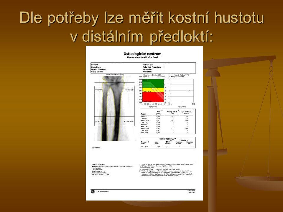 Popřípadě lze zhodnotit tvar obratlových těl pomocí bočného skenu a morfometrie obratlových těl