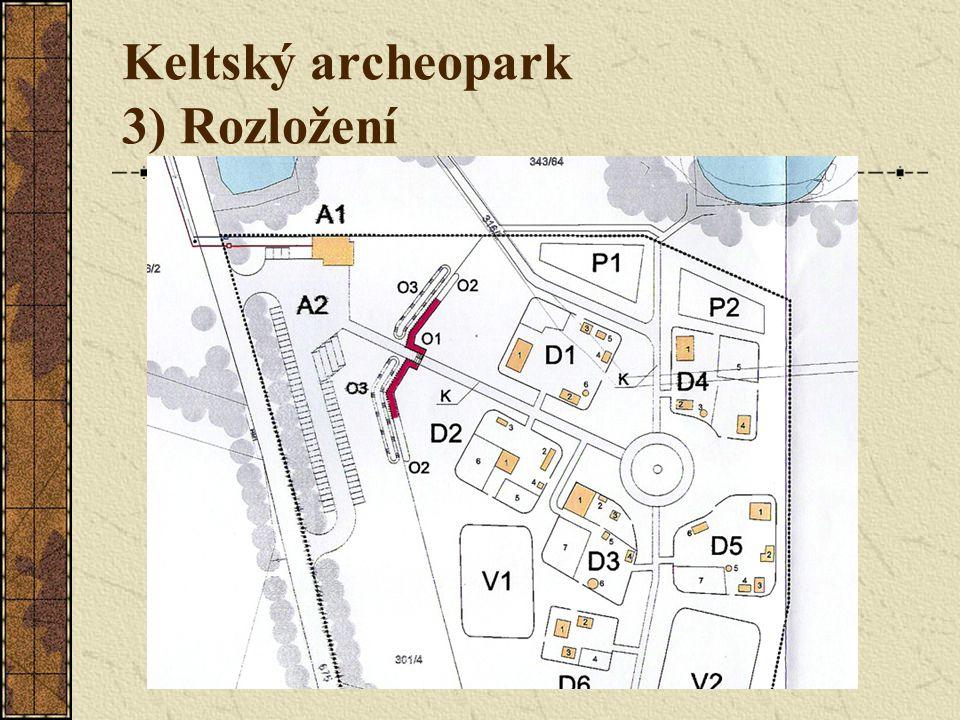 Keltský archeopark 3) Rozložení
