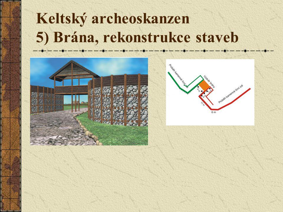 Keltský archeoskanzen 5) Brána, rekonstrukce staveb