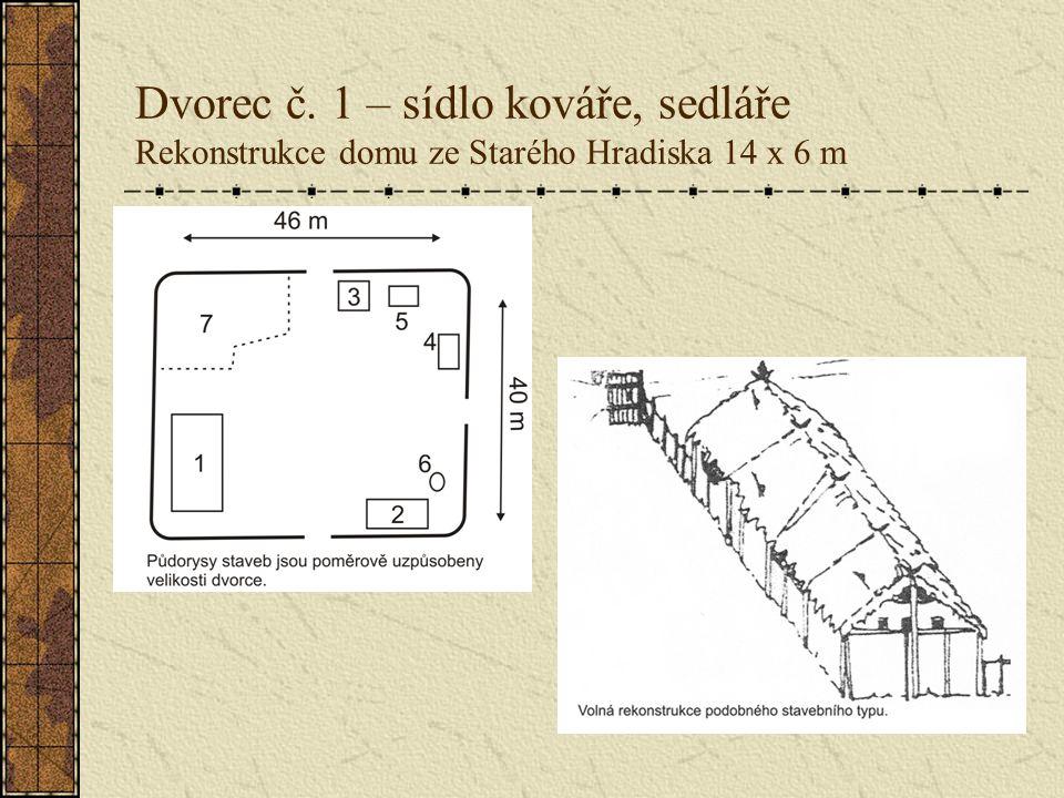 Dvorec č. 1 – sídlo kováře, sedláře Rekonstrukce domu ze Starého Hradiska 14 x 6 m