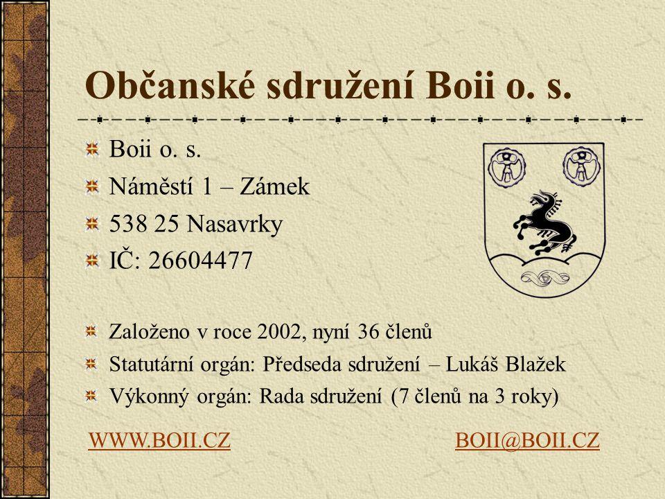 Občanské sdružení Boii o.s. Boii o. s.