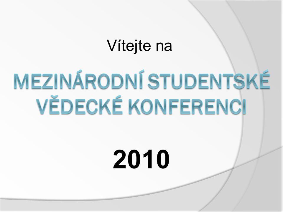 1) Zahájení konference (9:00) 2) Prezentace odborných prací v humanitní sekci (9:05 – 10:00) 3) Prezentace odborných prací v přírodovědné a technické sekci (10:00 – 10:45) 4) Přestávka (10:45 – 11:00) 5) Prezentace odborných prací v ekologické sekci (11:00 – 11:45) 6) Prezentace nesoutěžních příspěvků (11:45 – 12:15) 7) Přestávka, porada poroty, kulturní vložka (12:15 – 12:45) 8) Vyhodnocení, předání ocenění (12:45 – 13:00) 9) Zakončení konference (13:00)