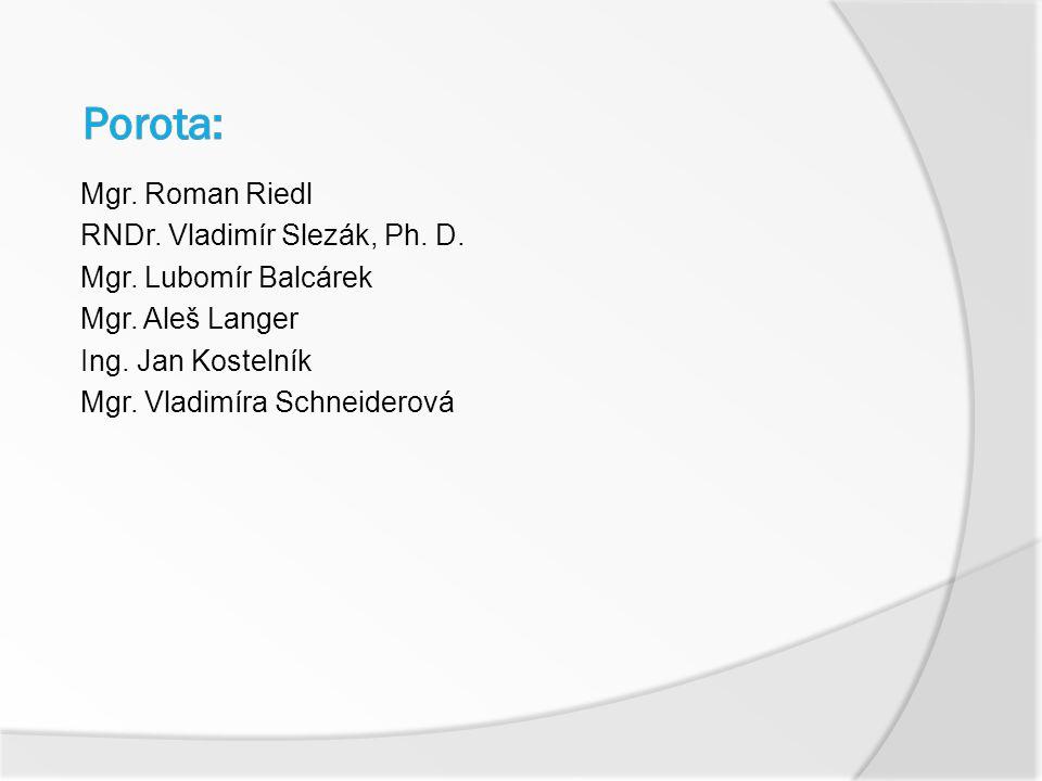 Mgr. Roman Riedl RNDr. Vladimír Slezák, Ph. D. Mgr.