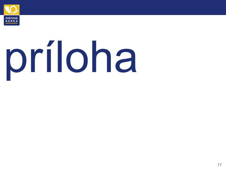76 ŠTRUKTÚRA ŠKOLENIA Diskusia Prezentujúci Stanislav Boledovič Peter Krišťák Kateřina Makalová Tomáš Tichota Kateřina Makalová Stanislav Boledovič Ka