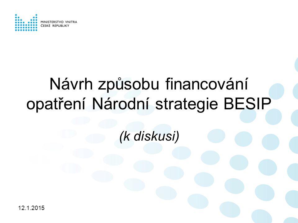 12.1.2015 Návrh způsobu financování opatření Národní strategie BESIP (k diskusi)