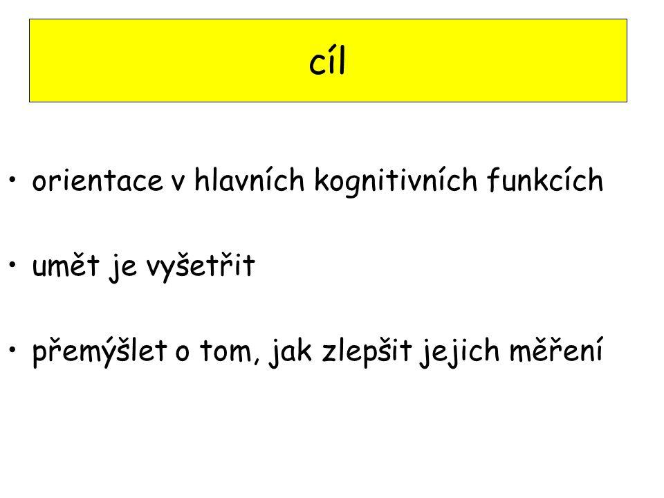 literatura P.Kulišťák Neuropsychologie Portál, 2003 R.