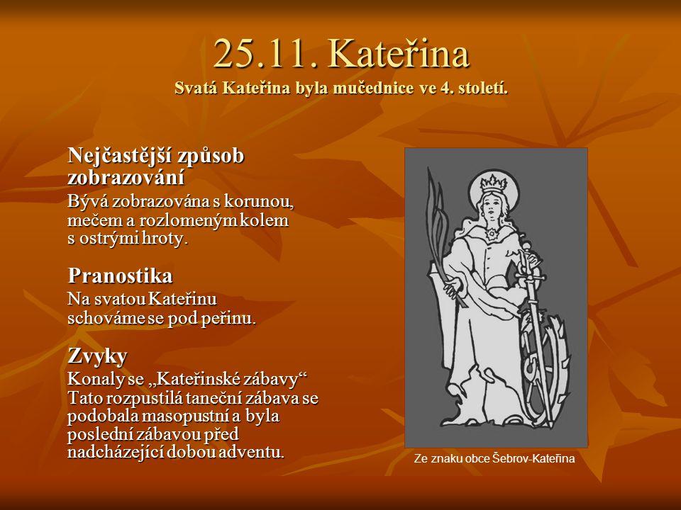 22.11. Cecílie Svatá Cecílie byla mučednice ve 3. století. Nejčastější způsob zobrazování Nejčastější způsob zobrazování Bývá zobrazována s varhanami,