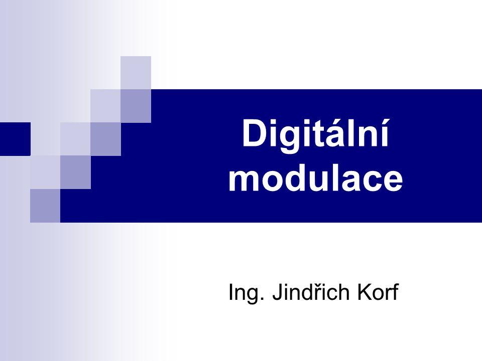Digitální modulace  Při digitálních modulací nabývá modulační signál omezeného počtu diskrétních hodnot → specifický způsob ovlivňování nosné vlny diskrétním signálem (v nejjednodušším případě nabývajícího dvou stavů) se nazývá klíčování (Shift Keying).