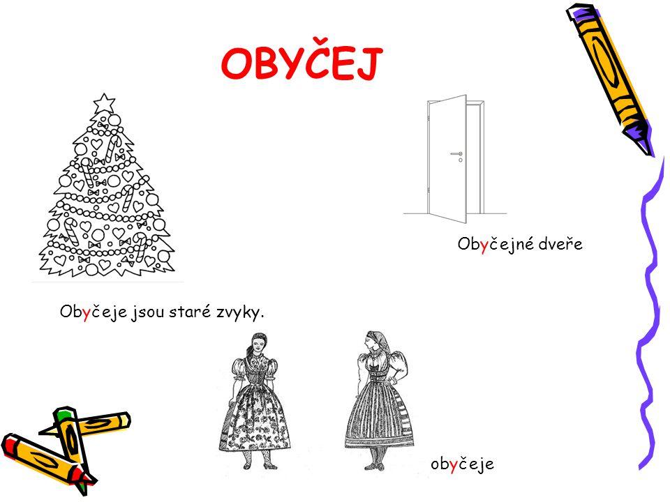 OBYČEJ Obyčeje jsou staré zvyky. obyčeje Obyčejné dveře