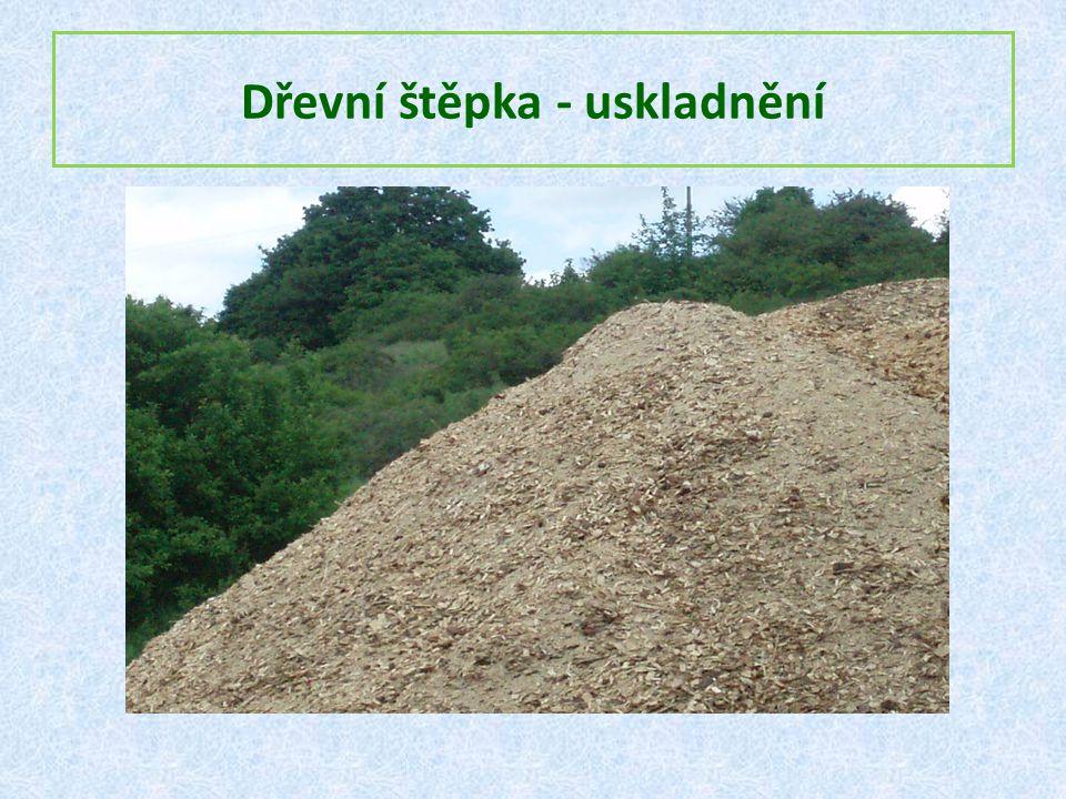Dřevní štěpka - uskladnění
