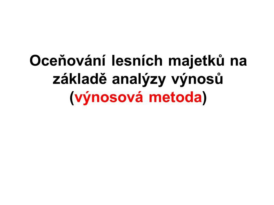 Oceňování lesních majetků na základě analýzy výnosů (výnosová metoda)